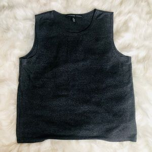 Josephine Chaus charcoal stretchy tank top